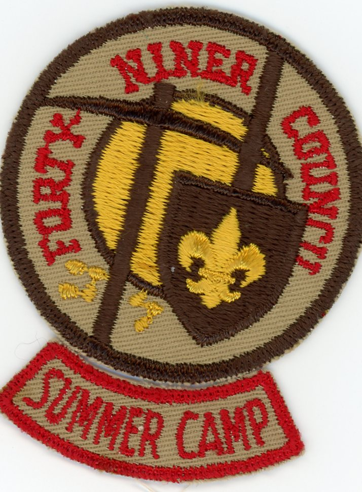 Forty Niner Council Patch And Segment Boy Scout Trade O Ree Calendar